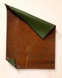 Ohne Titel; 60x46 Cm, Eisen, Ölfarbe